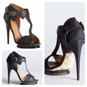 L.A.M.B. Shoes - L.A.M.B Mesh 'charon' T-Strap Platform Sandals