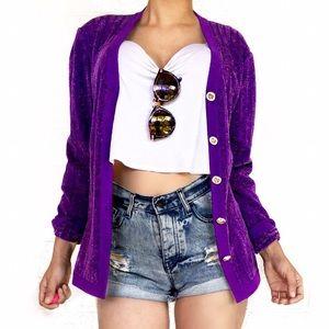 St. John purple cardigan