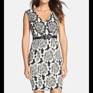 Plenty by Tracy Reese Dresses & Skirts - Black & Ivory Floral Sheath Dress