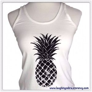 "Iconic Legend Tops - Graphic Print ""Pineapple"" Tank Top"