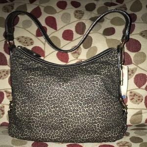 Fossil Handbags - NWT Fossil Leopard Print Shoulder Bag