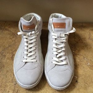 Santoni Other - Santoni Men's Light Grey Canvas/Suede Sneakers