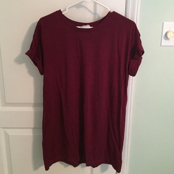 cb872f66b575 H M Dresses   Skirts - Wine Color T-Shirt Dress