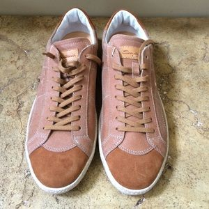 Santoni Other - Santoni Men's Camel Suede Sneakers