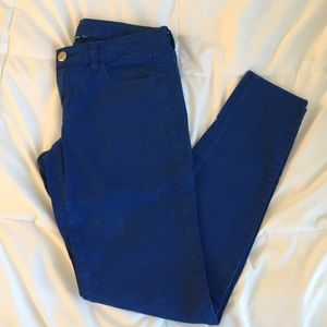 American Eagle Outfitters Denim - AEO Cobalt blue jeggings