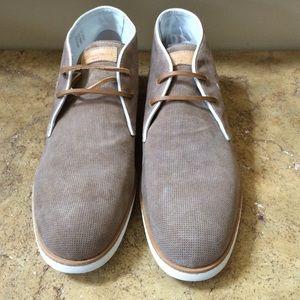 Santoni Other - Santoni Men's Tan Suede Ankle Boots