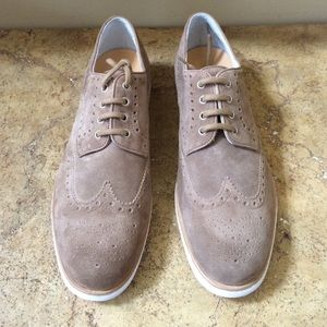 Santoni Other - Santoni Men's Taupe Suede Oxfords