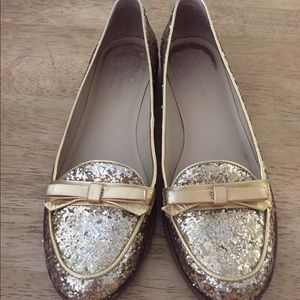 990cc601d311 kate spade Shoes - Kate Spade glitter Cora loafers in gold