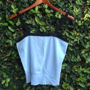 Vintage 90's Baby Blue Bow Crop Top Tank