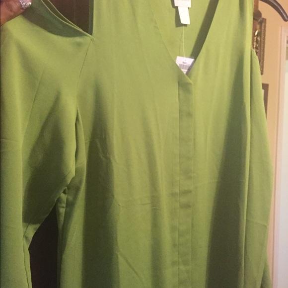 a1c0486511b Chicos Cold shoulder blouse- sale 1 2 price
