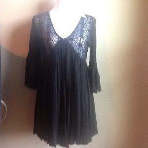 Tops - Boutique BEAUTIFUL Black BOHO top