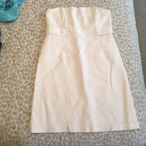 White Vineyard Vines Strapless Dress