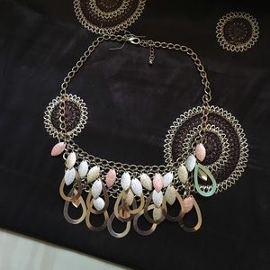 Pink, gold, silver Macy's Necklace