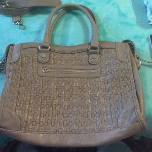 NWOT STEVE MADDEN Taupe Faux Leather Satchel