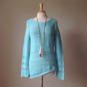 Pure Handknit Blue Sweater