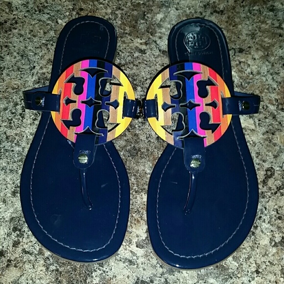 8e91f174f6e0 Tory burch miller rainbow sandals 9.5. M 57b88300c2845614b10044bb