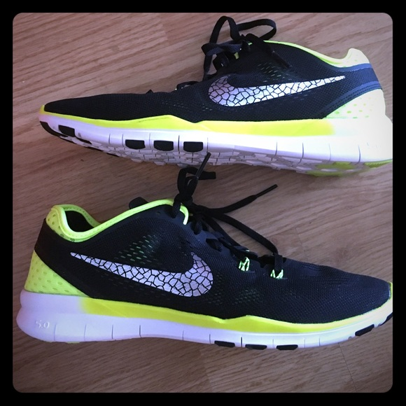 898cf6e2519f Women s Nike Free 5.0 black and neon yellow