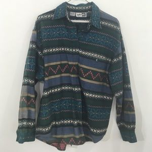 Men's 90s shirt with incredible graphic pattern!