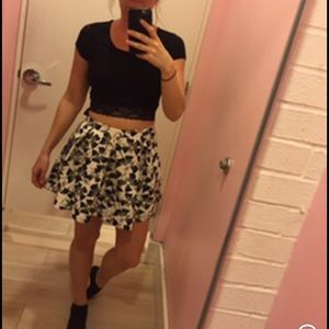 Crop top and skater skirt combo