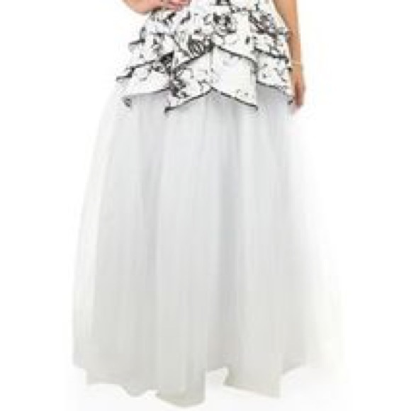 80 off dresses amp skirts black and white floral tulle