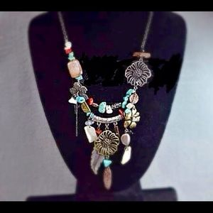 Jewelry - South Western Necklace Turquoise, Stones, Charms