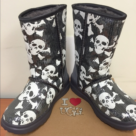 Ugg Shoes Nwt Skull Pirate Boots I Love S Poshmark