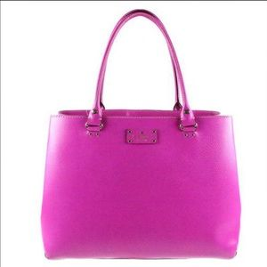 kate spade Handbags - Kate Spade Wellesley Fallon Large Hot Pink Tote