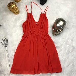 Rebecca minkoff PORTA blood orange dress
