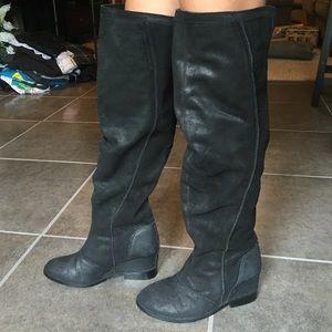 monkey black suede boots on poshmark