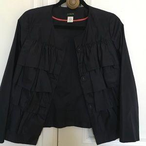 Ruffle button up jcrew coat