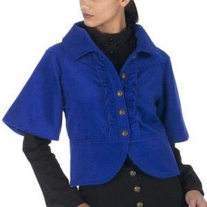 ALICE by Temperley Jackets & Blazers - Alice Temperley For Target Blue Crop Coat
