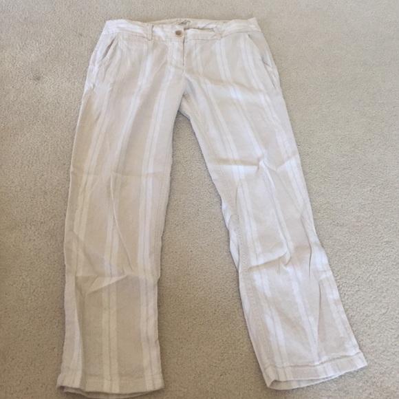 LOFT - Off white/white linen pants from Nancy's closet on Poshmark