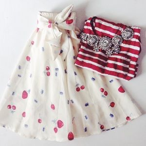 {ASOS}  Berry Bow Skirt