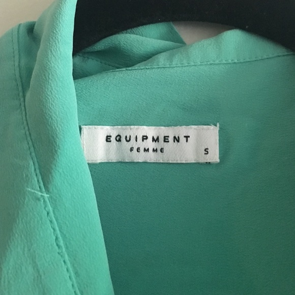Equipment Tops - Mint/ sea foam equipment blouse