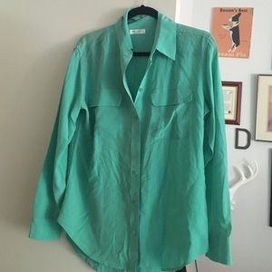 Equipment Tops - Mint/ sea foam equipment blouse