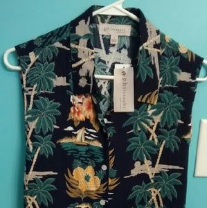 Philosophy Tops - NWT PHILOSOPHY TROPICAL CROPPED BLOUSE