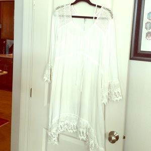 Creamy White beautiful lace dress