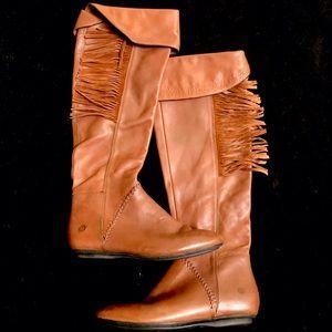 NWOT Fringe leather boots