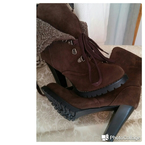 Shoes - Chocolate Brown Ankle Boots