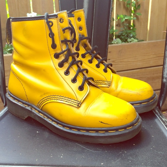 0089a3487 Dr. Martens Shoes | Yellow Doc Martens Boots | Poshmark