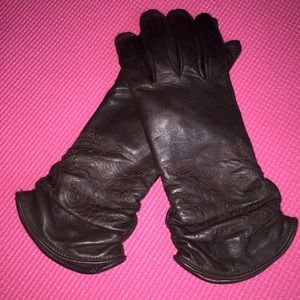 Tous Accessories - TOUS Lambskin Leather Gloves