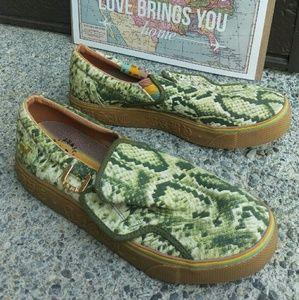 LAMB snakeskin sneaker