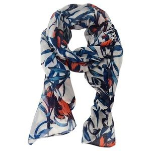 J.Crew Floral Printed Long Lightweight Scarf