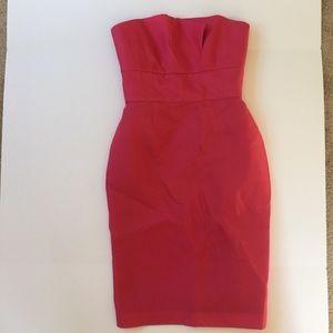Monique Lhuillier Dresses & Skirts - Monique Lhuillier dark pink silk cocktail dress 8