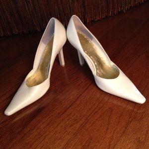 BCBGirls Cream Heels/Pumps