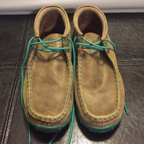 7ea44a8e3523 Twisted X Shoes - Twisted X Women's Driving Moc *Teal/Turquoise*