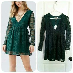 Urban Outfitters Dresses & Skirts - HP | Urban Outfitters | Diamond Lace Plunge Dress