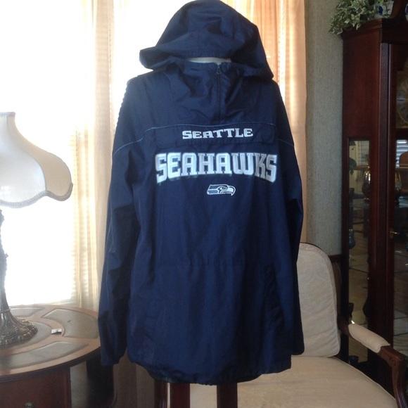 more photos 77909 971e4 Seahawks hooded rain jacket reebok