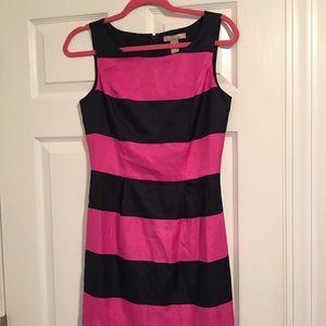 Navy/pink NWT banana republic dress