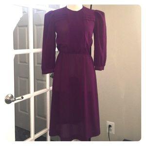 Vintage Sheer Purple Dress 